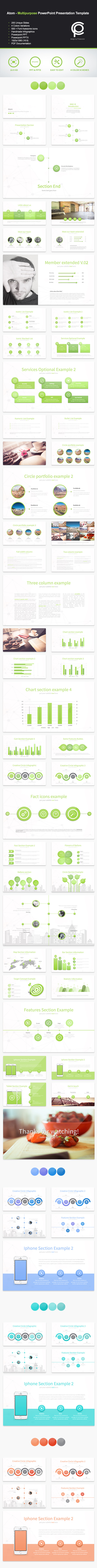 GraphicRiver Atom Multipurpose PowerPoint Presentation 10949098