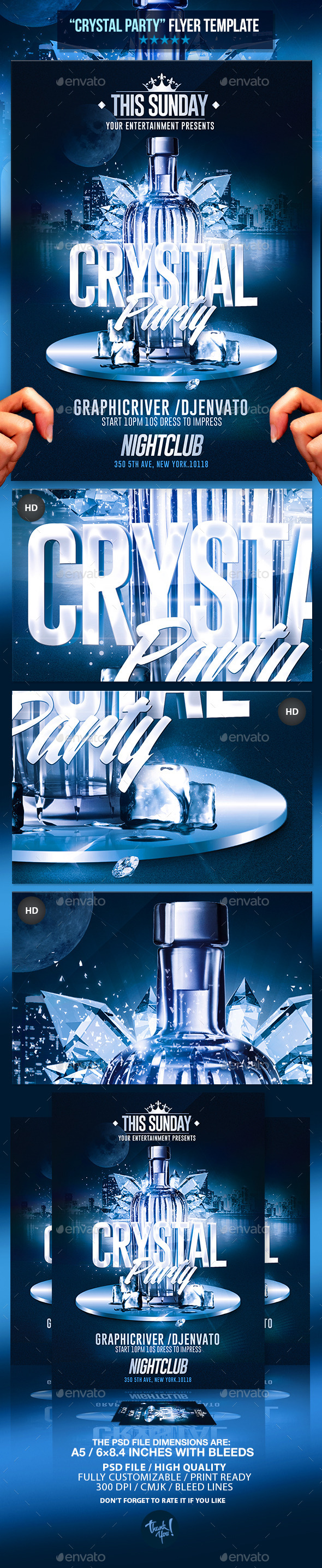 GraphicRiver Crystal Bottle Party Psd Flyer Template 10949096