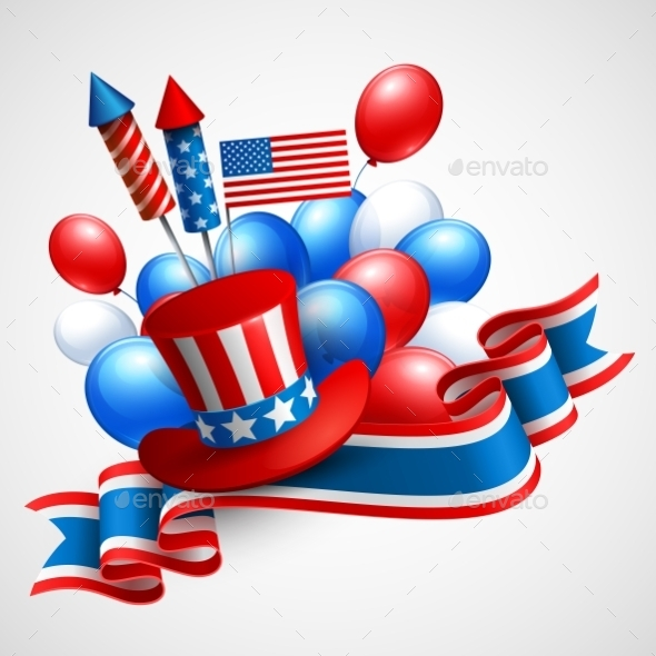 GraphicRiver Independence Day holiday Symbols 10949167
