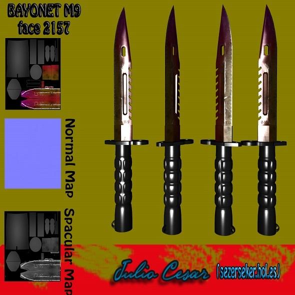 3DOcean Bayonet-M9 Knife 10949213