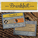 Rustic Breakfast Coupon Card - GraphicRiver Item for Sale