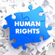 Human Rights on Blue Puzzle. - PhotoDune Item for Sale