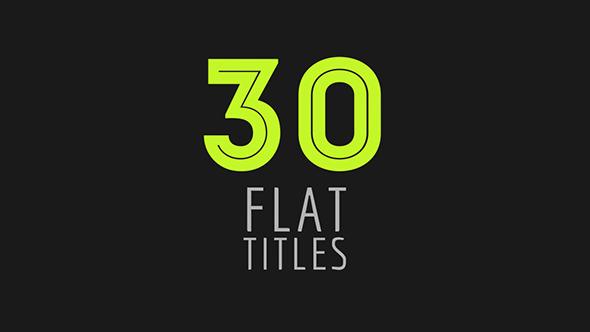 30 Flat Titles 10949469  - Videohive shareDAE