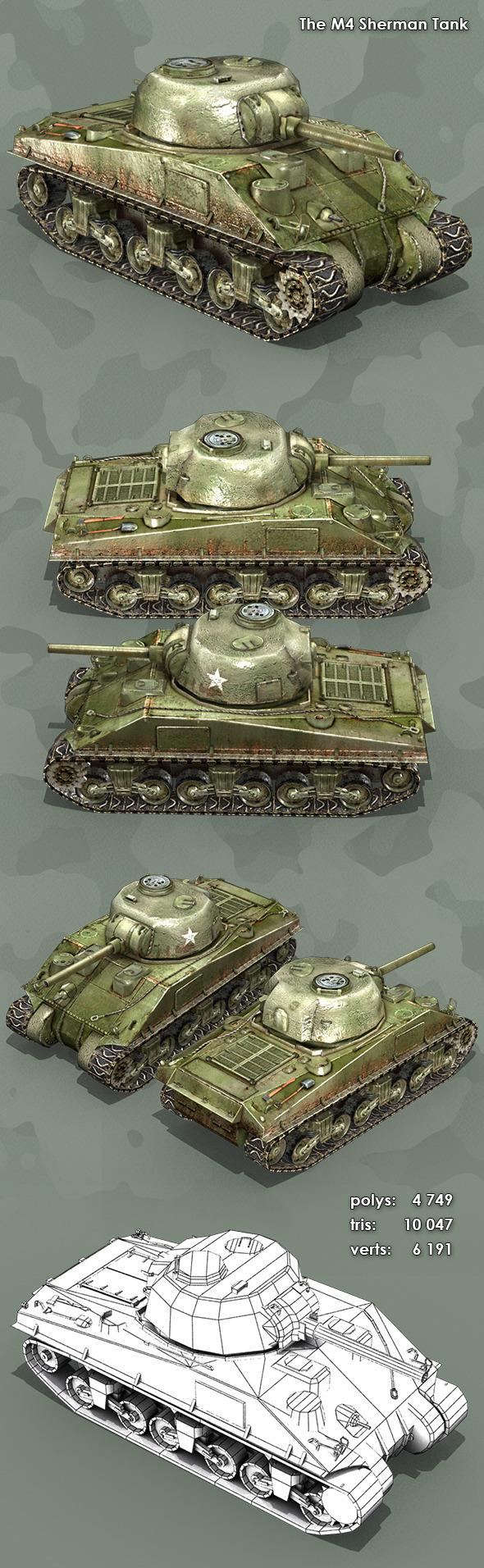 3DOcean M4 Sherman Tank 10949483