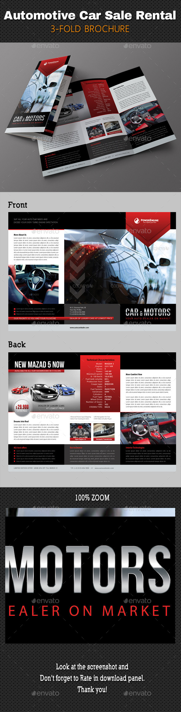 GraphicRiver Automotive Car Sale Rental 3-Fold Brochure 02 10949503