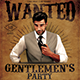 Gentlemen's Party Flyer - GraphicRiver Item for Sale