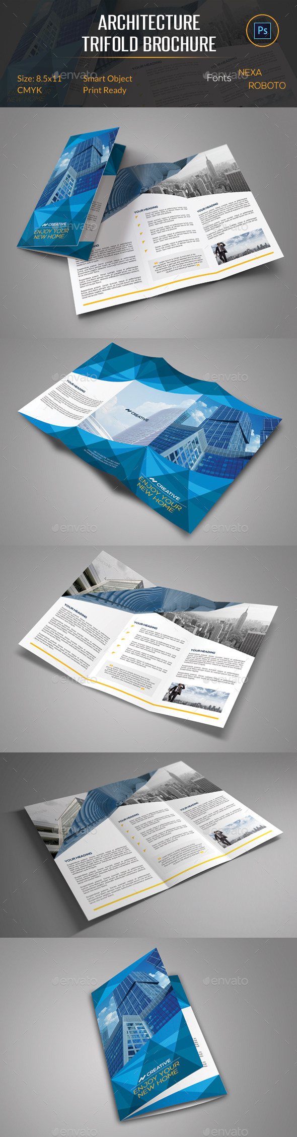 GraphicRiver Architecture Trifold Brochure 10949546