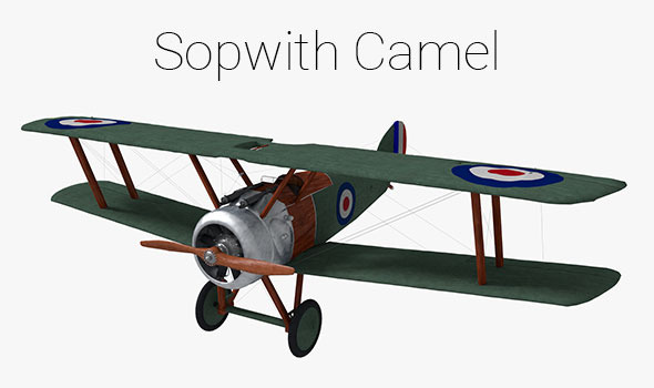 Sopwith Camel Biplane - 3DOcean Item for Sale