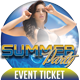 Summer Party Event Ticket - GraphicRiver Item for Sale