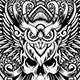 Darkguardian - Skull & Owl Theme Tshirt Design - GraphicRiver Item for Sale