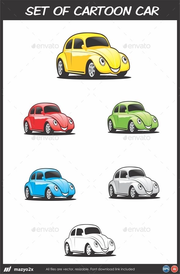 GraphicRiver Cartoon Car Vector 10949614