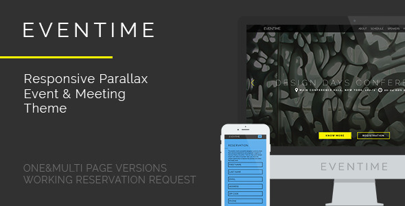 ThemeForest Eventime Conference Event & Meeting HTML Template 10949616