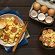 Scrambled Eggs with Chorizo Slices and Onion - PhotoDune Item for Sale
