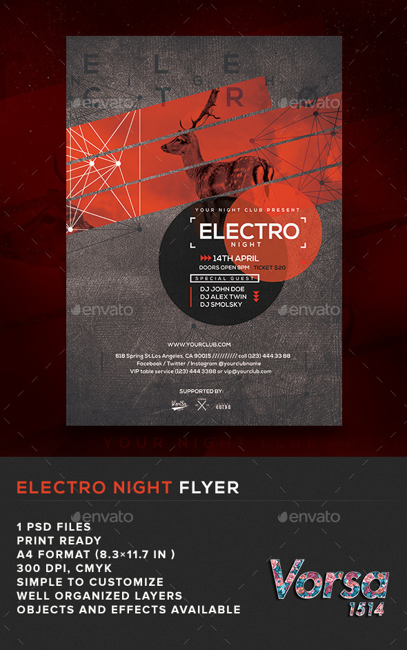 GraphicRiver Electro Night Flyer 10950012