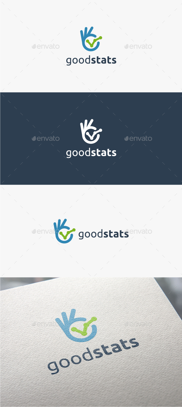 GraphicRiver Good Stats Logo Template 10950051