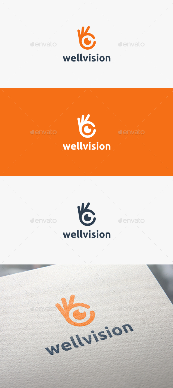 GraphicRiver Well Vision Logo Template 10950062