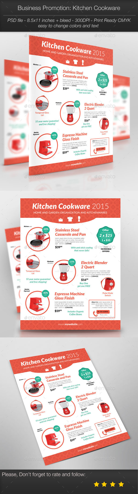 GraphicRiver Business Promotion Kitchen Cookware 10950075