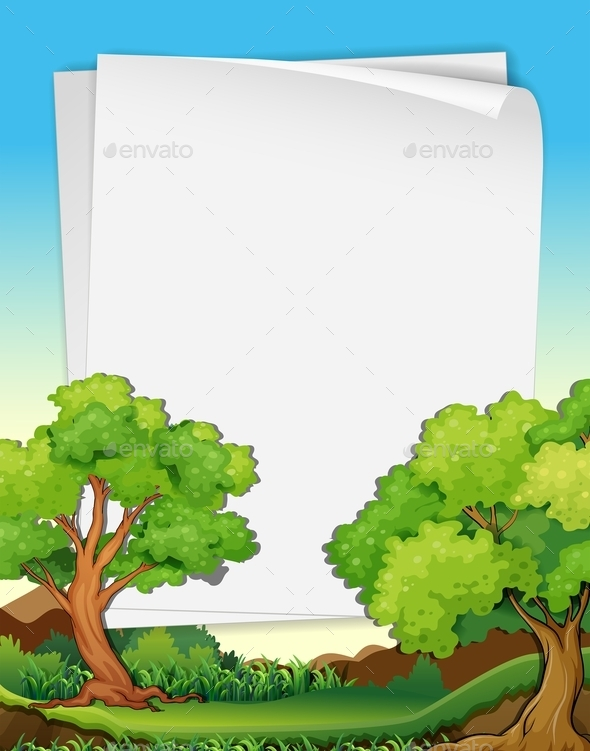 GraphicRiver Papers and Trees 10950100