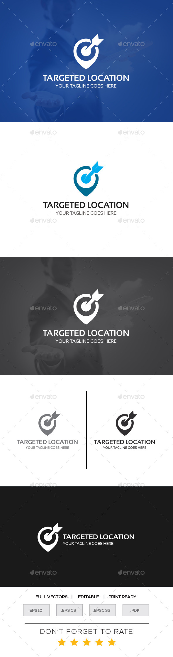 GraphicRiver Targeted Location Logo Template 10950112