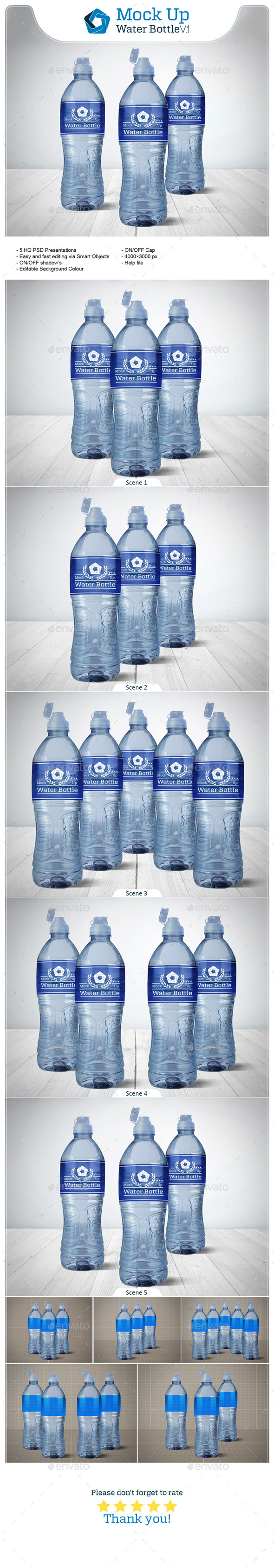 GraphicRiver Water Bottle V.1 10950124