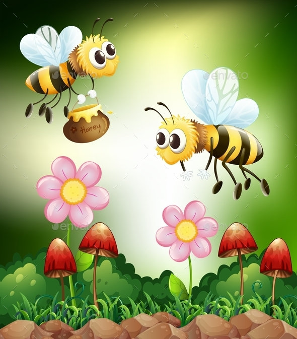 GraphicRiver Bee and Honey 10950254