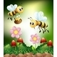 Bee and Honey - GraphicRiver Item for Sale