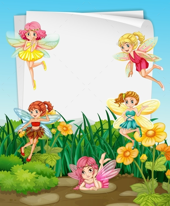 GraphicRiver Fairies and Sign 10950314