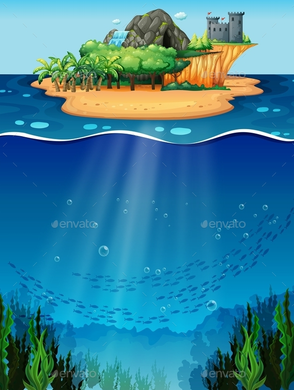 GraphicRiver Underwater and Island 10950349