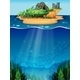 Underwater and Island - GraphicRiver Item for Sale