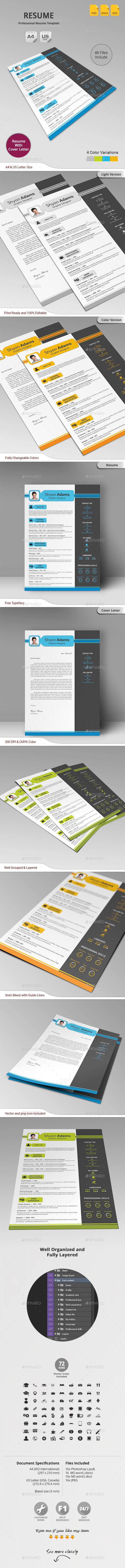 GraphicRiver Resume 10950366