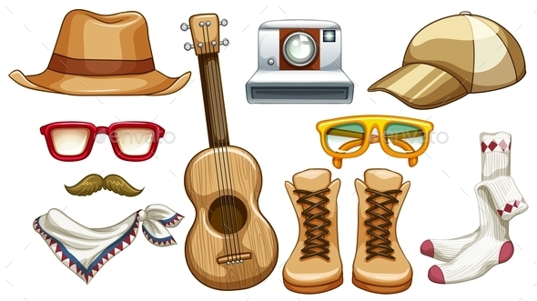 GraphicRiver Hipster Items 10950398
