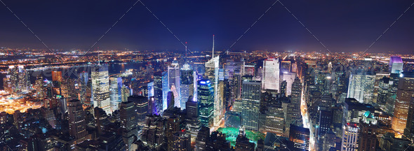 PhotoDune New York City Manhattan night panorama 1111214