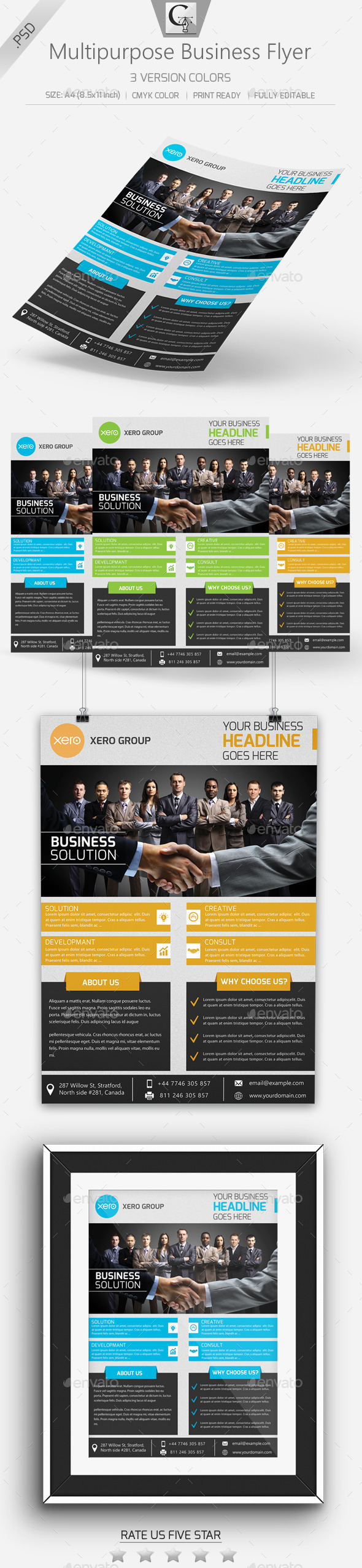 GraphicRiver Multipurpose Business Flyer 10950541
