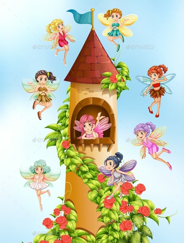 GraphicRiver Fairies and Tower 10950586