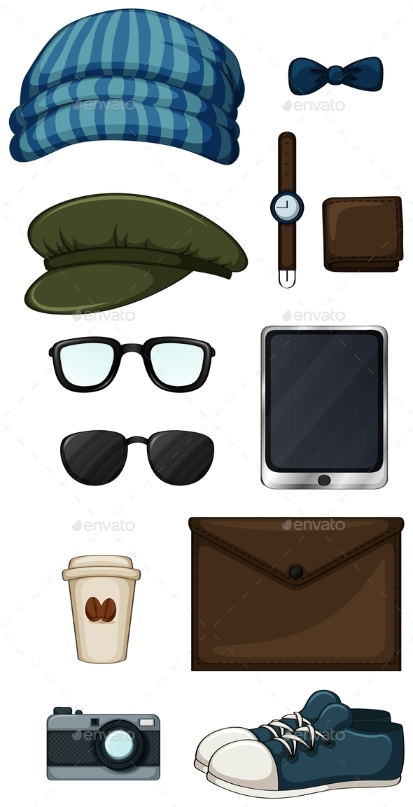 GraphicRiver Hipster Items 10950595