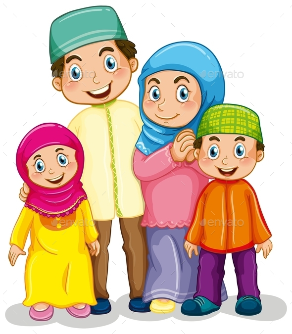 GraphicRiver Muslim Family 10950612