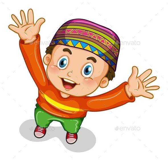 GraphicRiver Muslim Boy 10950614
