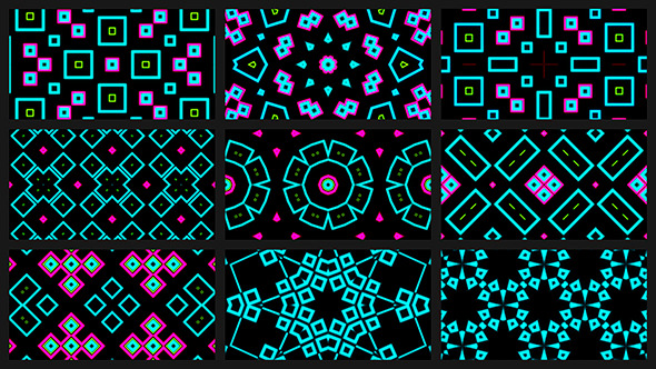 VJ Abstract Neon Pack