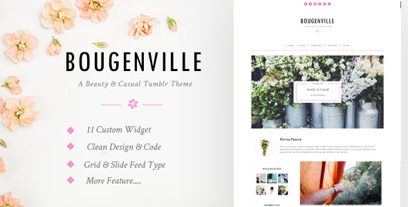ThemeForest Bougenville Beautiful & Casual Tumblr Theme 10950894