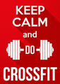 Flat design Keep Calm and do crossfit - PhotoDune Item for Sale