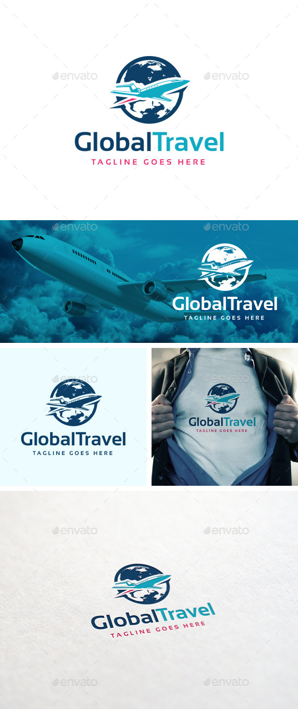 GraphicRiver Global Travel Logo Template 10951402