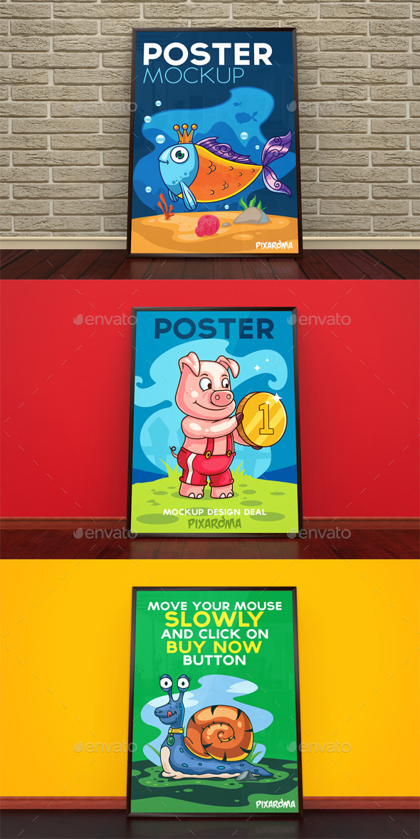 GraphicRiver Poster Mockup 10951507