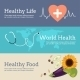 Set of Flat Design Concept for World Health Day. - GraphicRiver Item for Sale
