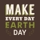 Vintage Typographic Design Poster for Earth Day - GraphicRiver Item for Sale