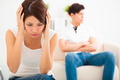 young Couple not talking after  fight  in living room - PhotoDune Item for Sale