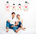 happy Young Couple looking the family concept draw - PhotoDune Item for Sale