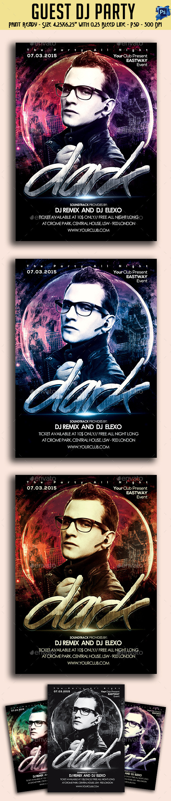 GraphicRiver Guest Dj Party Flyer 10951950