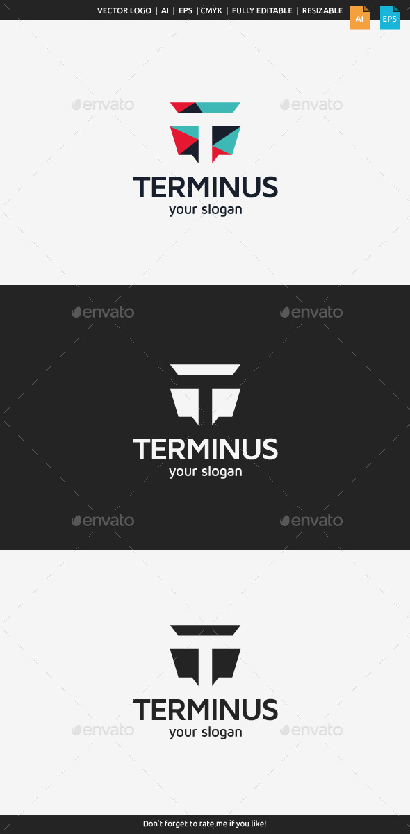 GraphicRiver Terminus Letter T 10952204