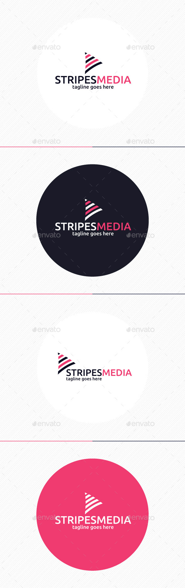 GraphicRiver Stripes Media Logo 10952390