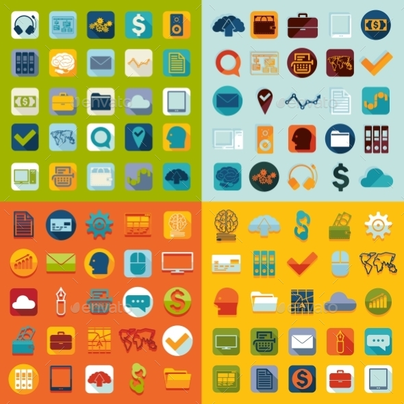 GraphicRiver Set of Business Icons 10952473